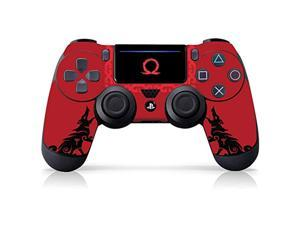 """controller gear officially licensed ps4 controller skin: god of war """"howling red"""" ps4 controller not included - playstation 4"""