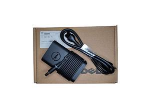 official laptop charger 65w watt ac power adapter include 3 prong power code - 0g4x7t la65nm130 - retail packing for dell