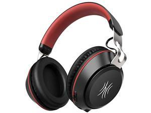 bluetooth headphones,30 hours play time wireless over ear headset with built-in microphone,40mm driver,thumping bass, supports hands-free calling and wired mode for pc/cell phones/