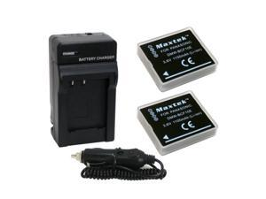 power pack: (two maxtek li-ion rechargeable battery and one pocket charger with car adapter) for panasonic dmw-bcf10 bcf10e bcf10pp cga-s/106b battery for panasonic lumix dmc-ts1 d