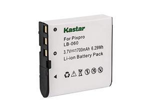 kastar lb060 battery replacement for kodak lb-060 az521 az361 az501 az522 az362 az526, hp d3500 skl-60 v5060h v5061u cameras and sun06 yco6 full hd portable camcorders