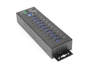 coolgear 10 port usb 3.2 gen 1 hub w/ 15kv esd surge protection per port