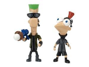 Phineas and Ferb Across the 2nd Dimension Figure Pack Resistance Force Phineas and Ferb