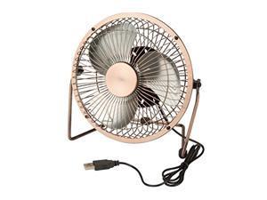 honey-can-do usb powered desk fan, bronze ofc-04475