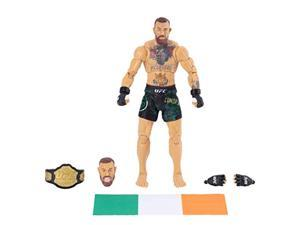 ufc ultimate series limited edition conor mcgregor, 6 inch collector action figure - includes alternate head and gloved hands, fight shorts, belt and irish flag accessory