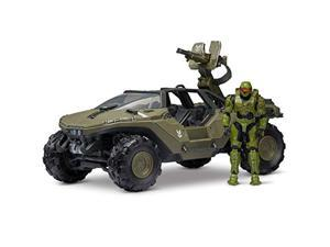 """halo 4"""" ?world of halo? deluxe vehicle and figure pack - warthog with master chief"""