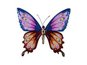 exhart metal butterfly wall art - red & purple butterfly wall decor for home or garden - uv treated metal wall hanging - butterfly art made of weather-resistant metal - 14.5? l x 1
