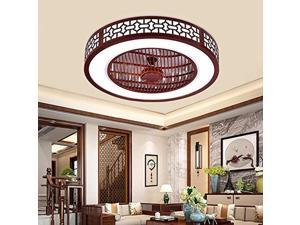 22 inch ceiling fan with light and remote control,modern led semi flush mount light fandelier,wood design,3 colors 3 speeds,enclosed fan,quiet motor,for home living room
