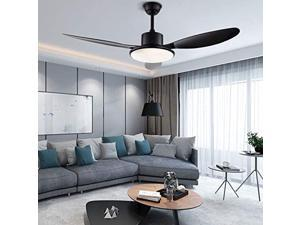 48 inch ceiling fan with led light,modern minimalist style ceiling light with remote control,indoor chandelier fandelier 3 speeds 3 colors,white