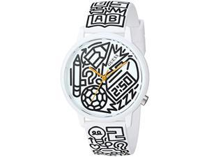 pencils of promise x timothy goodman guess watch, color: white (model: v0023m9)