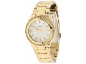 Guess Women's U12658L1 Gold Stainless-Steel Quartz Watch with White Dial