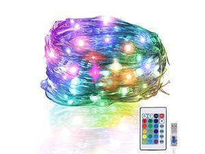 jettingbuy led rope string lights with remote and 100 pieces nylon cable ties led strip lights color changing lights waterproof usb powered led rope lights for indoor outdoor (49 f