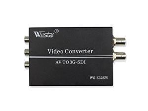 wiistar av cvbs to 3g-sdi audio video converter support 1080p for crt hdtv to camera