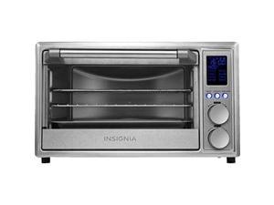 insignia - 6-slice toaster oven with air frying - stainless