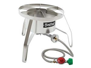 bayou classic ss10 stainless steel high pressure cooker with windscreen