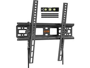 """tilting tv wall mount bracket, universal tv mount low profile for 26-55 inch flat screen tvs, ultra slim, easy to install with tilting knob, fits 12""""/16"""" studs, max vesa 400x400mm, 99 lbs. elived"""