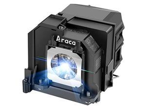 araca elplp80 /v13h010l80 projector lamp with housing for epson brightlink 595wi powerlite 585w 585wi 580 eb-595wi eb-1420wi eb-585w eb-585ws eb-1430wi replacement projector lamp