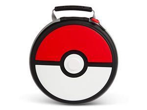powera pokemon carrying case for nintendo switch or nintendo switch lite - poke ball, protective case, gaming case, console case, round - nintendo switch