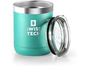 SWISS+TECH 10 oz Tumbler Double Wall Vacuum Insulated Tumbler, Stainless Steel Tumbler with Lid, Corrosion Resistant, BPA Free (Green)