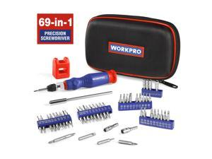 WORKPRO 69PC Precision Screwdriver Kit with Quick Load Screwdriver Bits Holder Handle for Computer, Smartphone, iPhone, Game Console and other Electronics Devices