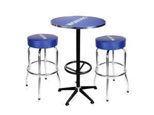 WORKPRO Bar Stool Industrial Metal Home Pub Chair Workshop Table and 2 Stool Combo