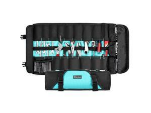 """DURATECH Tool Bag / Wrench Roll, 21 Pockets, 24.4"""" x 14.2"""", Tool Pouch Organizer for Car / Motorcycle / Mechanic Tools, Premium Waterproof Oxford Cloth Made, without Tools"""