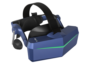 Pimax Vision 8K X VR Headset with Dual Native 4K CLPL Displays, 200 Degrees FOV, Fast-Switched Gaming RGB Pixel Matrix Panels for PC VR Steam Games Videos, USB Powered, with KDMAS earphone