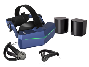 Pimax Vision 5K Super VR Headset with Wide 200°FOV, Dual 2560x1440p Resolution,  Up to 180 Hz High Refresh Rate,  Modular Audio Strap, with 2 * Knuckles Controllers, SteamVR Base Station 1.0*2.
