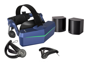 Pimax Vision 8K X VR Headset with Dual Native 4K CLPL Displays, 200 Degrees FOV, with KDMAS earhpone and a pair of Knuckles Controller, SteamVR Base Station 1.0*2.
