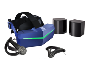 Pimax Vision 8K Plus VR Headset with 4K CLPL Displays, 200 Degrees FOV, Modular Audio Strap, with KDMAS earhpone and 2 * Knuckles Controllers, SteamVR Base Station 1.0*2.