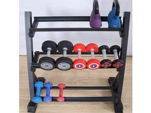 Tier Dumbbell Rack for Home Gym,Weight Rack for Dumbbells,Strength Training Weight Racks,Dumbbell Stand(1100 Pounds Weight Capacity)