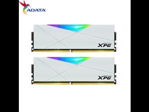ADATA D50 DDR4 3600(PC4 28800) 64GB (32G×2) set desktop memory XPG- white heavy armor RGB light white memory Desktop PC RGB RAM