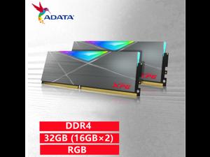 ADATA D50 DDR4 3600MHz(PC4 28800) 32GB (16GB×2) set desktop memory XPG-Longyao heavy armor RGB desktop computer memory