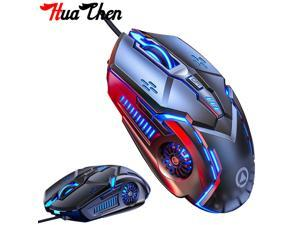 Wired Gaming Mouse Silent Mouse Suitable for PC computer and notebook computer Gaming Mouse USB Wired Mouse 6 Button LED Lantern Mouse