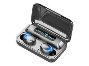 Mini Earbuds 8D HiFi CVC8.0 Noise Cancelling Bluetooth 5.0 Earphones TWS Sport Waterproof Headphones Deep Bass Sound Cordless Bank Dual Headsets With Power Bank Chaging Case
