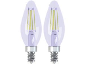 Lighting Reveal HD LED 3.2-watt (40-watt Replacement), 240-Lumen Blunt Tip Light Bulb with Candelabra Base, 6-Pack Warm White 3000k