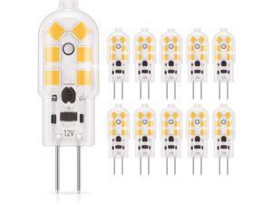 G4 LED Light Bulb Bi-Pin Base 1.5Watt 15-20W Halogen Bulb Equivalent 12 Volt Warm White 3000K  OmaiLighting 180 Lumen Non-dimmable Pack of 10