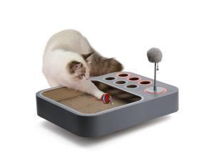 Boqii Board Game 3-in-1 Board Game for Playful Cats, All-in-one Interactive Toy for Cats, [3 Modes for Cats' Different Personalities] [Upgrade Plush Material] Interactive Cat Toys Balls, USB Charging