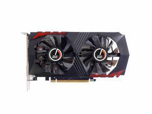 EFS AMD RX560 128-Bit 4GB GDDR5 Graphic Card support DirectX12 with dual fans Video Card GPU PCI Express 3.0 DP/DVI-D/HDMI,Play for LOL,DOTA,COD,War Thunder etc
