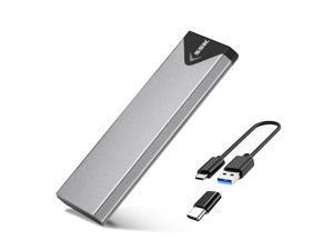 SSK Aluminum USB 3.1 to M.2 NGFF SSD Enclosure Adapter, External SATA Based M.2 Solid State Drive Enclosure (SATA Based)