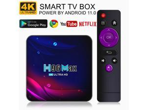 Power by Android 11.0 4K Android TV BOX 5G WIFI Smart TV BOX RK3318 Quad-Core Streaming Network Media Player Ott TV BOX Set-top Box
