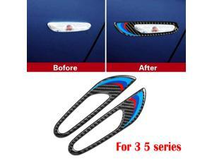 Carbon Fiber Car Side Turn Signal Light Frame Trim Sticker For BMW 3 5 series