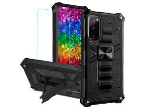 Case For Samsung S20 FE ,Galaxy S20 FE Phone Case with Screen Protector Military Grade Full-Body Rugged Dual-Layer Shockproof Protective Cover with Magnetic Car Mount Built-in Kickstand