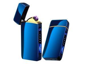 Arc Lighter, Smart Electric Lighter, USB Rechargeable Lighter Windproof Flameless Lighter Lightweight Plasma Lighter for Fire,BBQs,Fireworks ,Candle,Camping - Outdoors Indoors