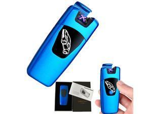 Arc Lighter, Smart Electric Lighter, USB Rechargeable Lighter Windproof Flameless Lighter Lightweight Plasma Lighter for Fire,BBQs,Fireworks ,Candle,Camping - Outdoors Indoors (T4-Blue) Blue