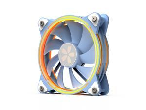Yeston * zeaginal Sakura ARGB LED 120mm Case Fan,Quiet Edition High Airflow Color LED Case Fan for PC Cases, CPU Coolers,Radiators SystemComputer Case Cooling Fan