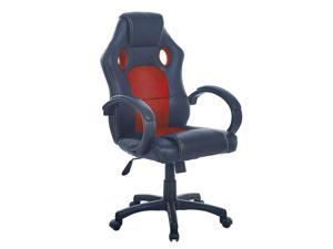 Gaming Chair, Ergonomic Office Chair, Adjustable Swivel Leather Desk Chair, Reclining High Back Computer Chair with Lumbar Support, Racing Style Video Gamer Chair(RED)