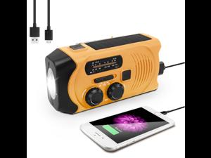 2021 Newest Emergency Solar Hand Crank Radio, EFOBO Self Powered Portable AM/FM/NOAA Weather Radio, LED Flashlight, 2000mAh Power Bank and SOS Alarm