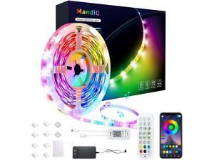 Led Strip Lights 50ft, EFOBO Smart Light Strips with App Control Remote, Music Sync 5050 RGB Color Changing Led Lights for Bedroom, Kitchen, Home Decoration