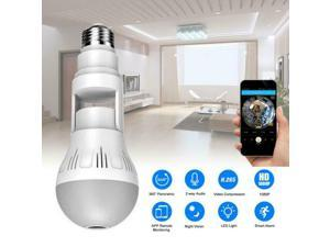 360° 1080P Panoramic IP Security Wifi Camera Light Bulb HD Fisheye Hidden Camera